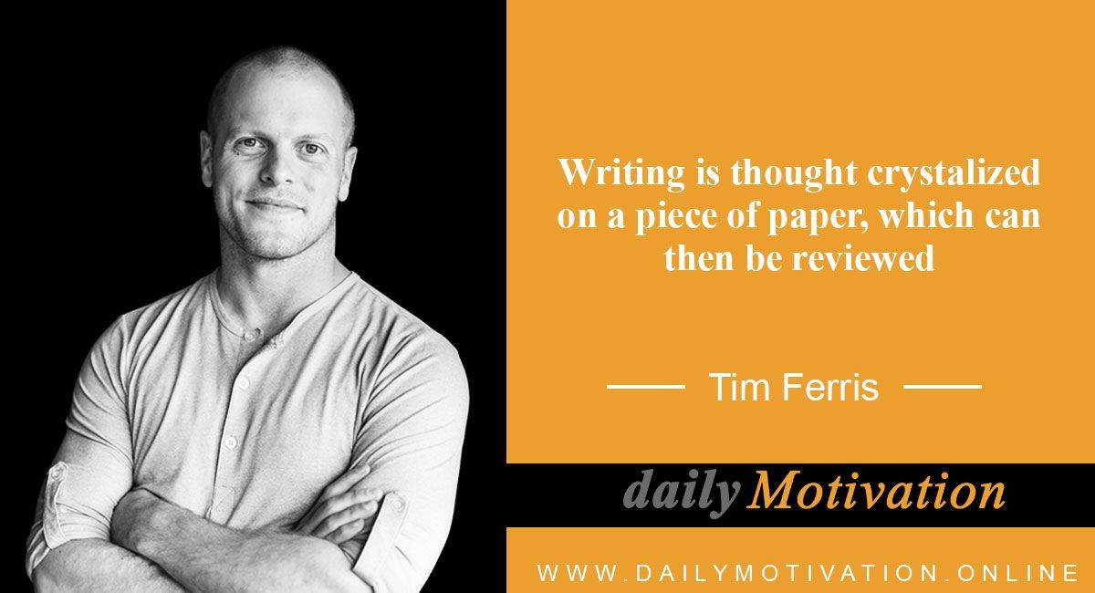 Tim Ferris Best Quotes about Life